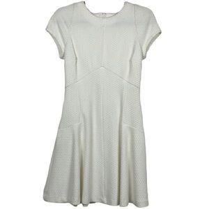 Banana Republic White Knit Textured Shift Dress